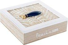 Scatola-Portagioie DKD Home Decor Beach Legno MDF
