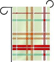 Scatola regalo natalizia con bandiera da giardino,