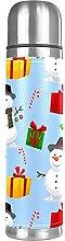 Scatola regalo natalizia con pupazzo di neve con