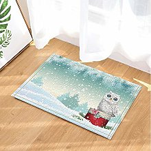 Scatola regalo natalizia gufo gufo neve stuoie