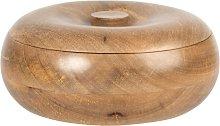 Scatola rotonda in legno di mango
