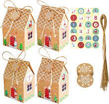 Scatole regalo per feste di Natale da 24 pezzi,