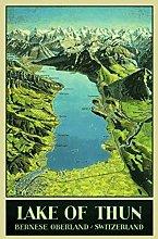 Schatzmix Lake Thun, Thuntensee, Carta Svizzera,
