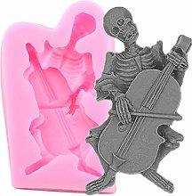 Scheletro 3D Skull Torta Stampi in silicone