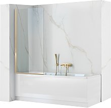 Schermo vasca Rea Elegant Gold 80