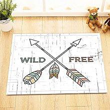Schizzo freccia piuma Indoor antiscivolo tappetino