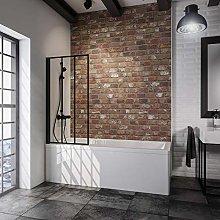Schulte doccia da parete per vasca, black style,
