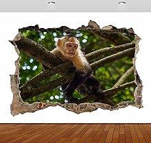 Scimmia animale natura alberi zoo 3D fracassato