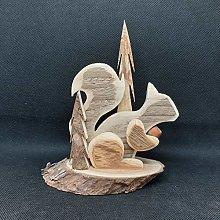 Scoiattolo di legno - Statuetta in legno antico di
