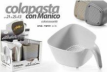 SCOLAPASTA CON MANICO CM.21X25X13h