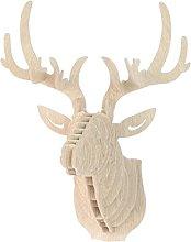 Sconosciuto 3D Parete di Legno Modello di Cervo