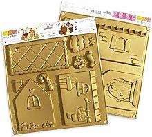 ScrapCooking 3141Casa Stampo Kit Silicone Oro