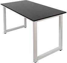 Scrivania 120x60x70cm MDF nero tavolo per ufficio