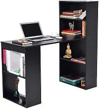 Scrivania con Libreria Tavolo Porta Pc Computer in