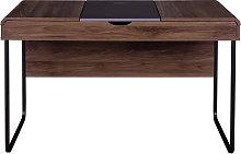 Scrivania design con ripiano scorrevole in legno