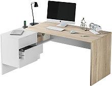Scrivania pc ufficio reversibile angolare studio