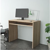 Scrivania porta PC moderna In legno rovere
