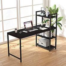Scrivania ufficio 120x62 design moderno nera