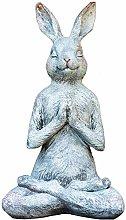 Sculpture Garden Animal Pensieroso Coniglio Statua