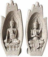 Scultura a mano di buddha, statua di Buddha in