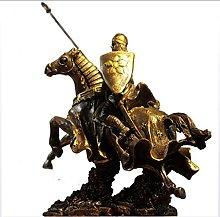 Scultura antica del cavaliere romano della statua,
