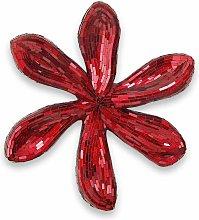 Scultura da parete in vetro Fiore rosso cm
