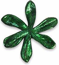 Scultura da parete in vetro Fiore verde cm