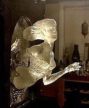 Scultura Da Parete,Resina Specchio Fantasma Placca