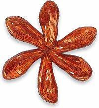 Scultura da parete vetro Fiore arancione cm