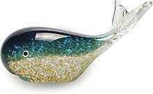 Scultura da tavolo Balena Statua Decorazione Glass