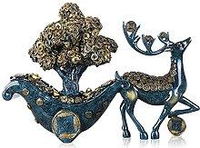 Scultura da tavolo Fortune Tree and Deer Statue