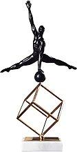 Scultura da tavolo Metallo figura statua scultura
