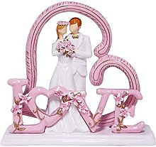 Scultura da tavolo Newlyweds Scultura Sposa e