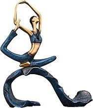 Scultura da tavolo Ragazza Yoga Statua Statua