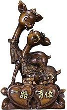 Scultura da tavolo Resina Deer Statua Artigianato