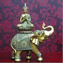 Scultura da tavolo Resina Scultura Statua Buddha