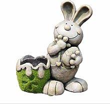 Scultura del vaso di fiori del coniglio,