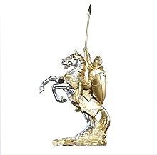 Scultura della statua del cavaliere medievale,