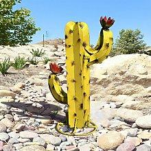 Scultura di cactus in metallo artificiale,