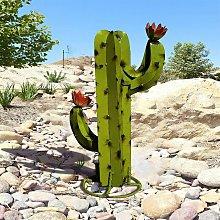 Scultura di cactus in metallo artificiale, statua
