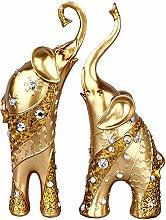 Scultura di elefante di coppia di
