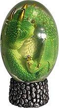 Scultura di uovo di drago fatta a mano in resina