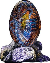 Scultura fatta a mano Uovo di drago trasparente in
