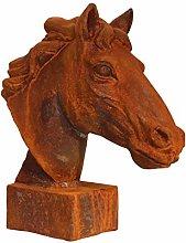 Scultura Figura Statua Cavallo di Ferro Giardino