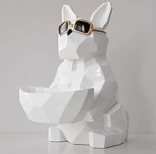 Scultura Figurine Ornamento Cool Dog Portabombotta