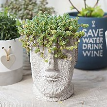 Scultura Giardino Decorativi Faccia Vasi Per