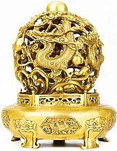 Scultura In Ottone Drago Cinese, Statua Decorativa