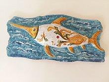 Scultura Pesce Spada in bassorilievo