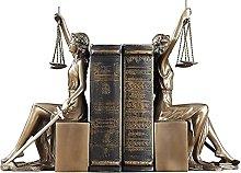 Scultura Statua della dea della Giustizia Bookend