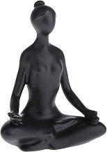 Scultura, statuine in ceramica ragazza, posa yoga